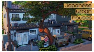 Японские городские дома│Строительство│Japanese urban houses│SpeedBuild │Snowy escape [The Sims 4]