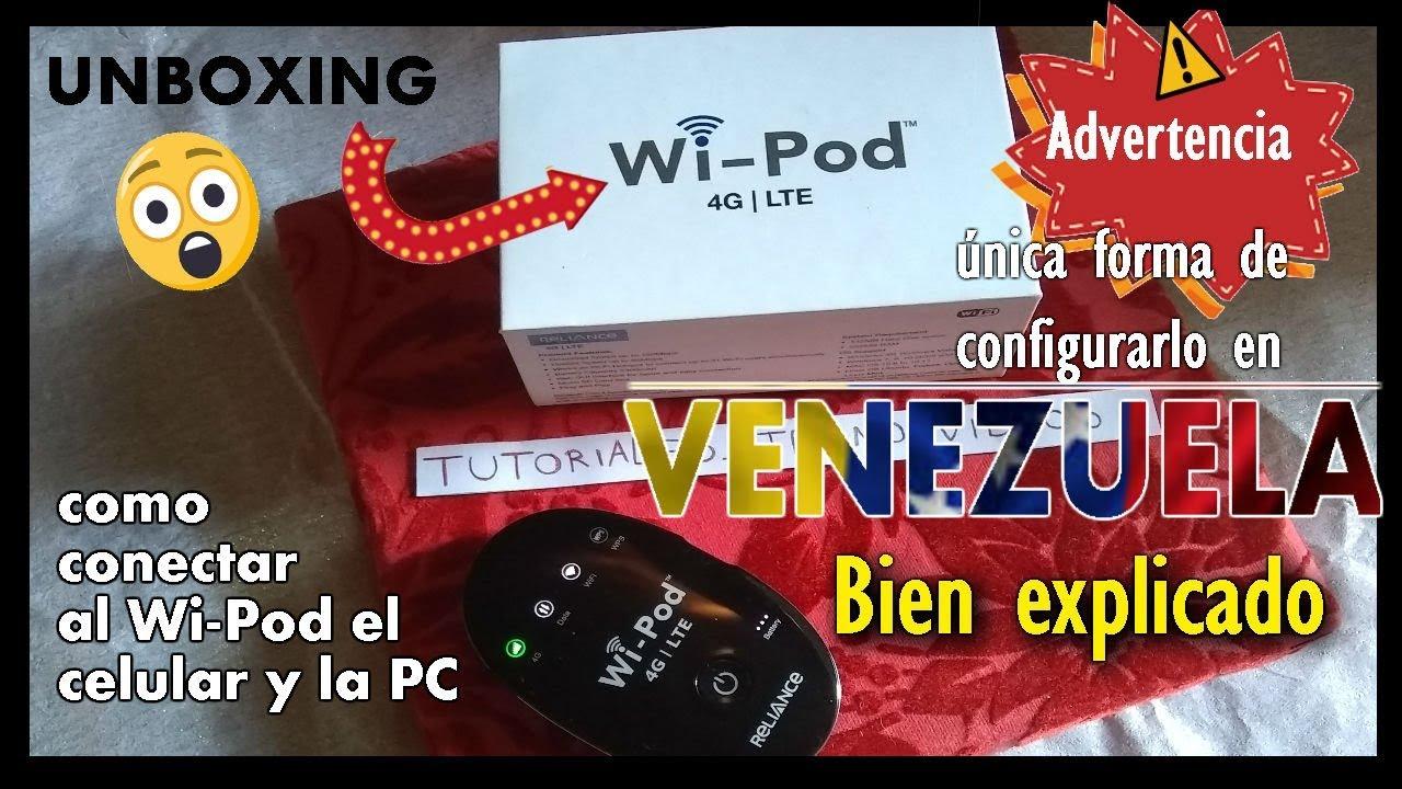 COMO CONFIGURAR EL WI-POD EN VENEZUELA | UNBOXING | Tutoriales_Tecno Videos