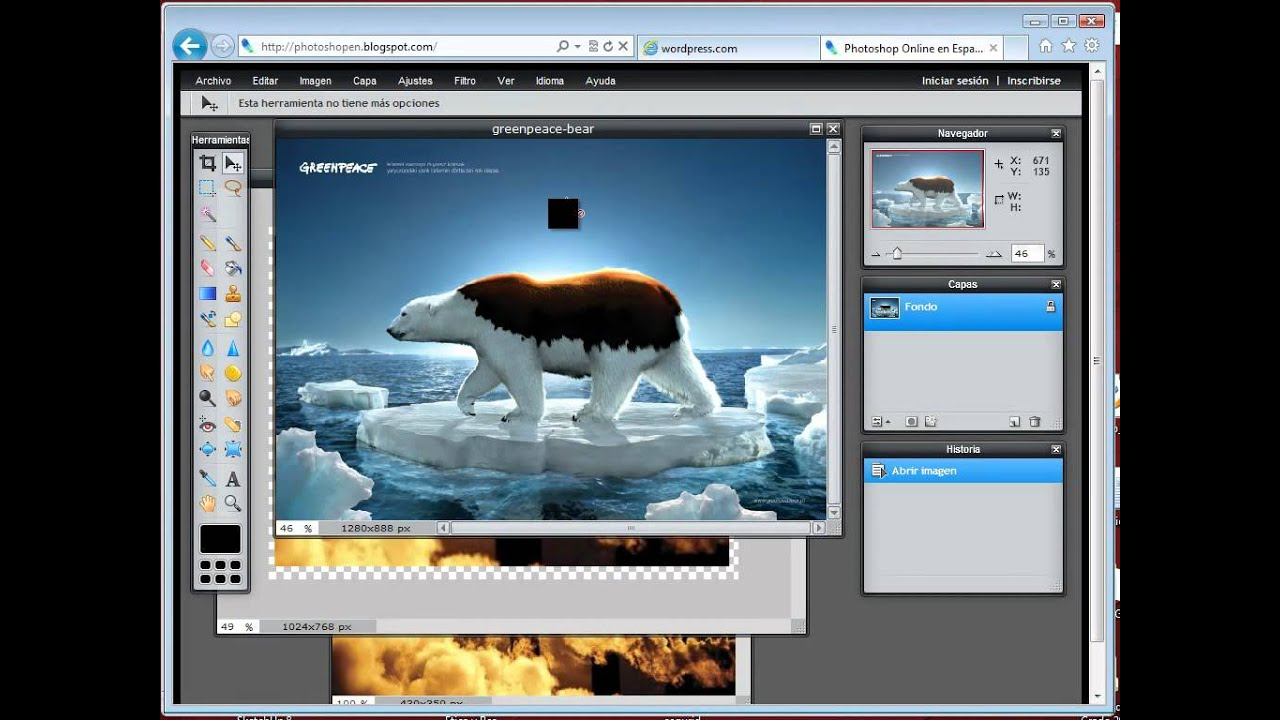 Utilizar Photoshop online para editar imgenes  YouTube