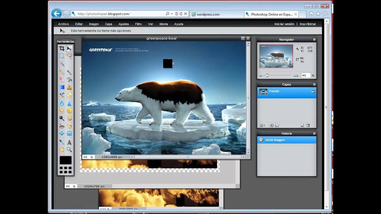 Utilizar photoshop online para editar im genes youtube - Para disenar fotos ...