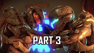 Halo 5 Guardians Walkthrough Part 3 - Master Chief vs. Spartan Locke (Gameplay Let