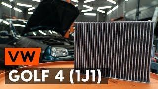 Montering Pollenfilter VW GOLF IV (1J1): gratis video
