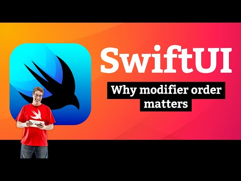 Views and Modifiers 3/10: Why modifier order matters –SwiftUI Tutorial thumbnail