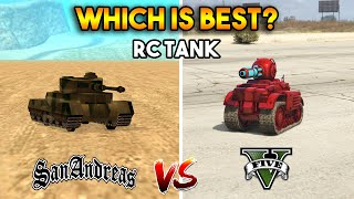 GTA 5 RC TANK VS GTA SAN ANDREAS RC TANK : WHICH IS BEST?