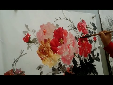 Chinese brush painting Tutorial Flowers Painting