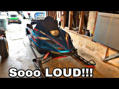 I Straight Piped My Snowmobile!! (Insanely Loud Straight Pipe)