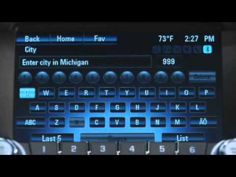 How to use navigation with the Chevy MyLink system
