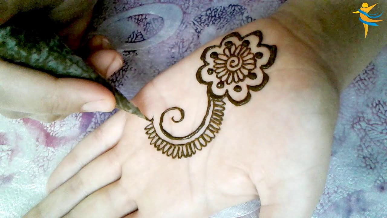 The Design Of Henna Is Very Simple Easy And Modern Youthful Youtube