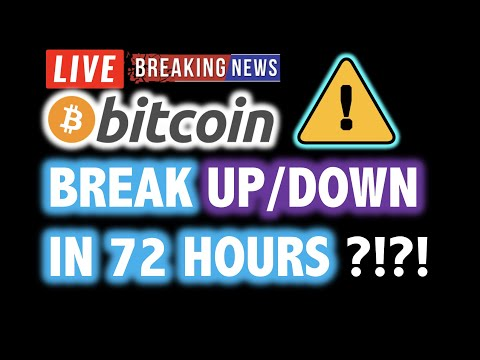 BITCOIN BREAK WITHIN 72 HOURS?! 🚀WOW!!! 😱💥 LIVE Crypto Analysis TA & BTC Cryptocurrency Price News