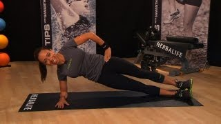 Work Your Core Muscles With A Perfect Side Plank | Herbalife Fit Tips