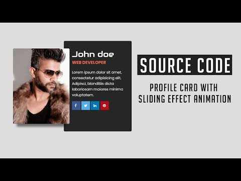 Profile Card with Sliding Effect Animation ( Source Code )