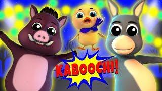 Kaboochi Dance For Kids | Animals Animated Dance Video | Dance Challenge Songs | Kids Tv India
