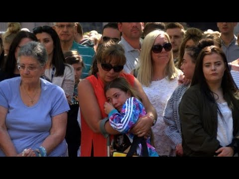 Manchester holds a minute of silence on anniversary of attacks