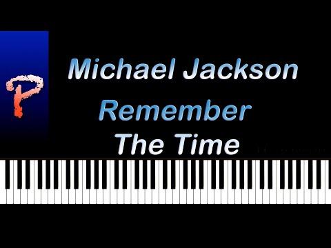 Michael Jackson - Remember The Time Piano Tutorial + Sheet Music/Midi