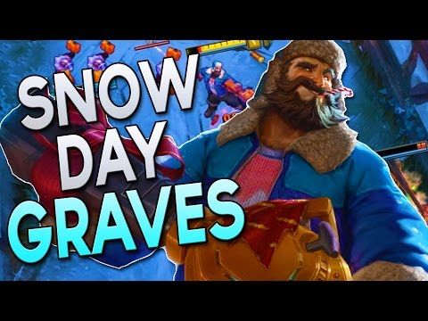 NEW SKIN - SNOW DAY GRAVES - How to Play Jungle Graves in Season 7   League of Legends