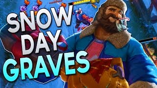 NEW SKIN - SNOW DAY GRAVES - How to Play Jungle Graves in Season 7 | League of Legends