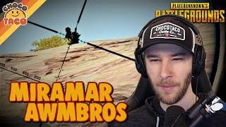 Pre-Bot Miramar AWMbros ft. halifax - chocoTaco PUBG 2-Man Squads Gameplay