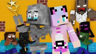 Monster School : Herobrine's Drawing Challenge - Minecraft Animation