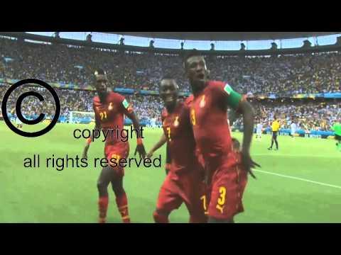 Asamoah Gyan Goal Celebration x Germany 2-2 FWC 2014