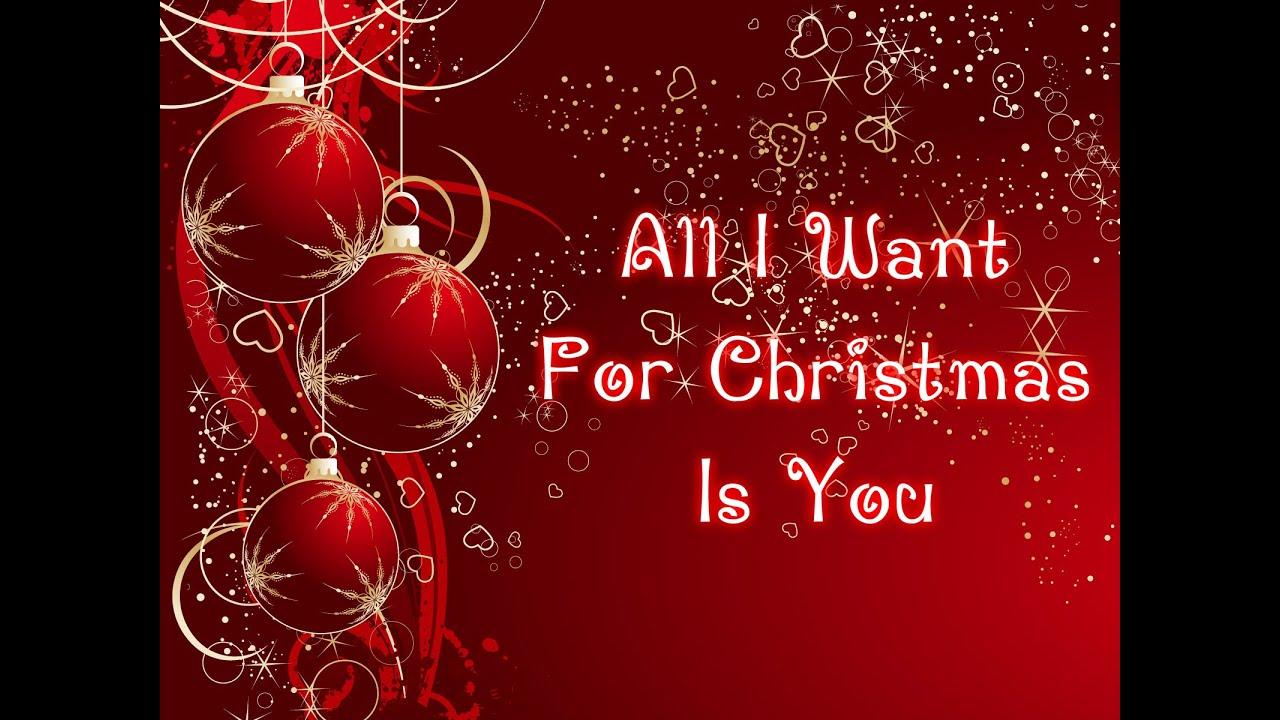 Mariah Carey All I Want For Christmas Is You Lyrics
