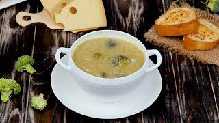 Сырный суп с брокколи и гренками - Рецепты от Со Вкусом