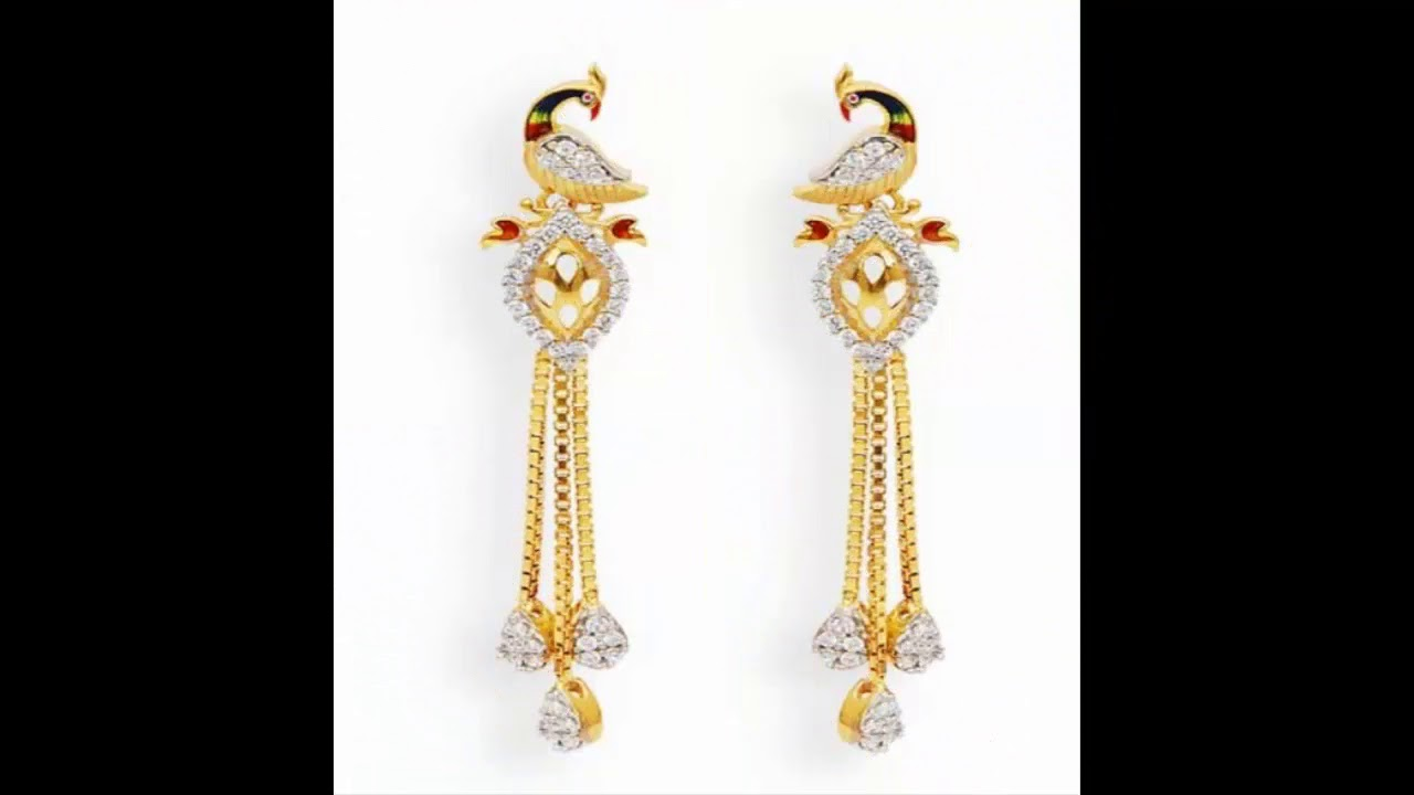 Light Weight Gold Sui Dhaga Earrings Designs With Weight Youtube