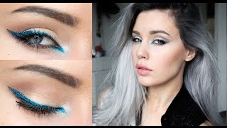 Electric Blue Eyeliner - Makeup Tutorial