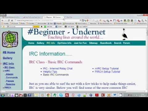 How to use IRC (Internet Relay Chat) - YouTube
