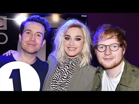Ed Sheeran crashes Katy Perry interview with Grimmy