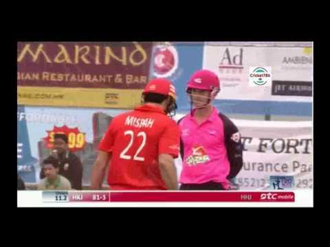 Misbah ul Haq 82 off 37 balls in Hong KOng T20 Blitz