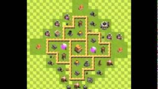 Clash of clans-layout centro de vila nivel 5 (guerras e farm)