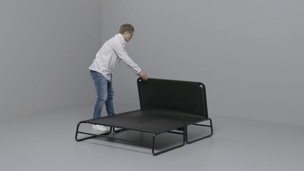 ikea hammarn anleitung vom sofa zum bett youtube. Black Bedroom Furniture Sets. Home Design Ideas