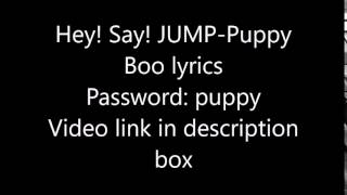 Hey! Say! JUMP-Puppy Boo lyrics