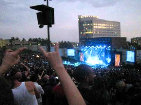 Rocking out to Slayer at the Mayhem Fest in Colorado