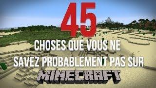 45 choses que vous ne savez probablement pas sur Minecraft II ! | FR | HD