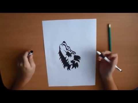 Как нарисовать волка ( Интересные рисунки / interesting pictures)