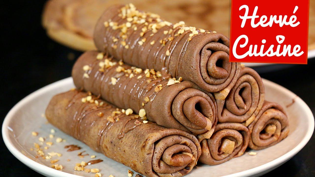 Crepes La Recette Facile Au Chocolat Version Roulee Youtube