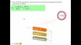 cbse class 10 maths ncert solutions chapter 8 trigonometry ex 8 4 q5   trigonometric identities