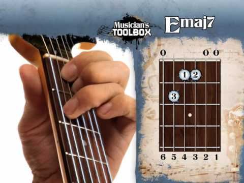 How To Play The E Major 7 Chord On Guitar Emaj7 Youtube