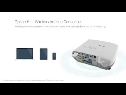 Epson Projectors | Wireless Ad-Hoc Connection