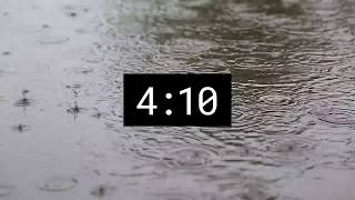 5 Minutes Timer - Countdown with RAIN sound
