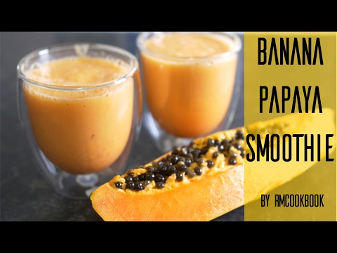 Super healthy papaya smoothie for improved digestion and stomach health