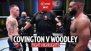 Colby Covington v Tyron Woodley fight highlights | UFC Vegas 11