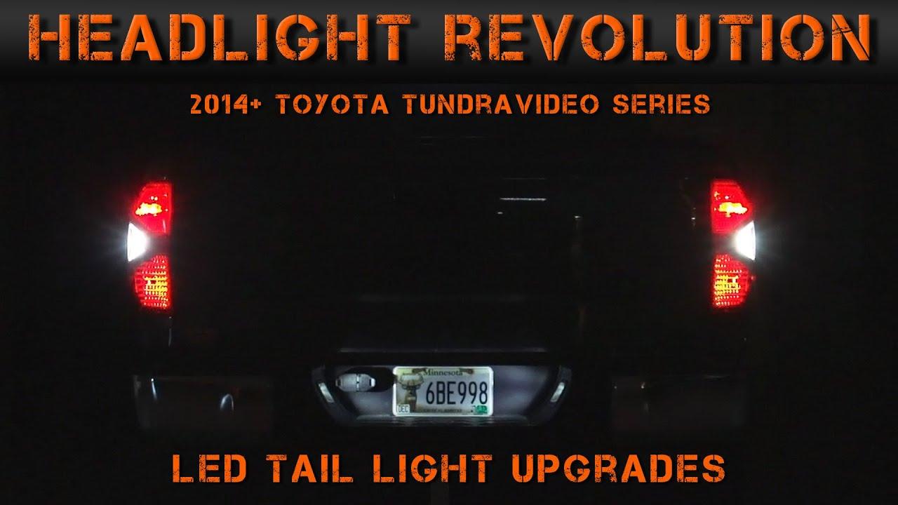 2014 2017 Toyota Tundra Led Reverse Blinkers Amp License