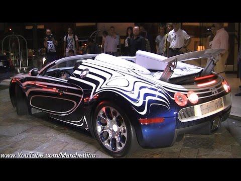 $2.4m Bugatti Veyron L'Or Blanc Sound and Driving