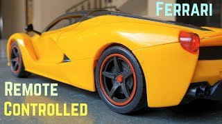 This RC Ferrari Car is Awesome with Opening Doors- Unboxing  Driving Test