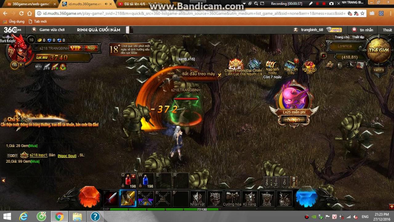 Game MU PC player HuynhTrangBinh