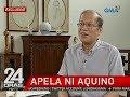 24 Oras: Dating Pres. Aquino: Dapat pag-aralan ng pamahalaan ang loan agreement sa China