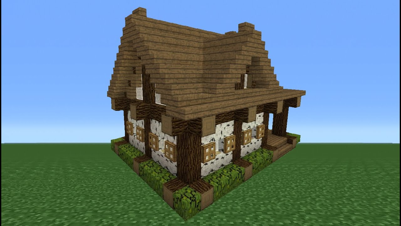 Minecraft Tutorial How To Make A Small Wooden Cabin Youtube