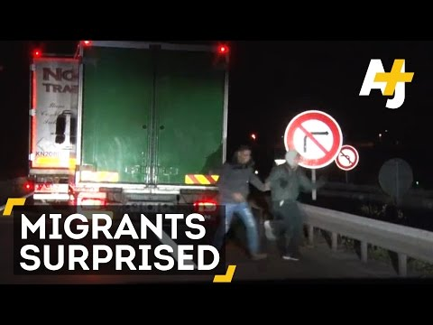 Migrants Find Big Surprise In Truck They Were Trying To Board